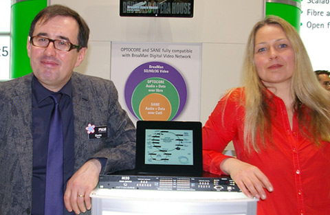 Optocore Marketing Director Tine Helme & Ennio Prase, Founder of Prase Engineering S.p.A
