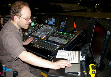 Holger Schwark, sound engineer at FOH
