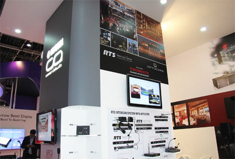 Thomsun's Booth @Infocomm MEA, Dubai,UAE presenting: RTS and Optocore