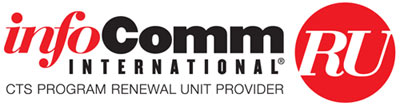 Optocore Certification Training (OCT) is approved as a renewal unit provider for InfoComm's CTS certifications